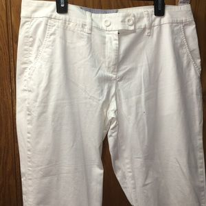 Tommy Hilfiger Women's White Capri Pants